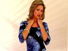 Solo scene with sensual pornstar milf Caroline Cage