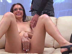 Curvy doll with glasses gets fucked