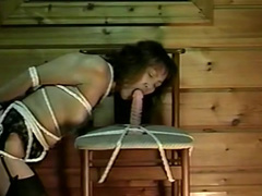 Dick-sucking Asian girl gives a pretty nice blowjob