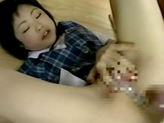 Stunning Japanese schoolgirl gets a hot facial