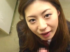 Hardcore Japanese chick is swallowing big loads