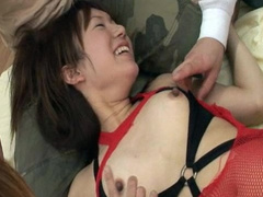 Asian milf spreading pussy and getting penetrated