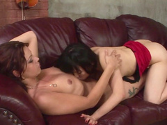 Mom Yumi Yu is fucking with horny brunette