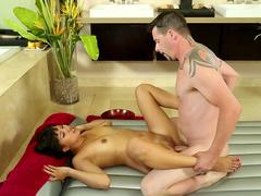 Jack Vegas fucks with brunette Angelina Chung