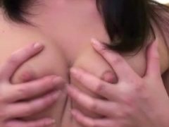 Amateur Asian shows off her big tits
