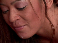 Asian Mia Lelani gives a hot oral massage