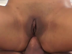 Close-up face-fucking with nice brunette