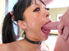 Jonni Darkko fucks face of Asian Gaia