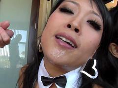 Yuki Mori is sucking dick of Jonni Darkko