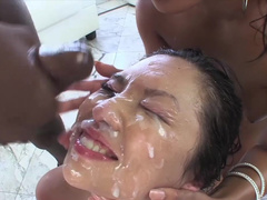 Asian sluts in rough gang bang experience