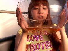 Kinky scene with a hot Japanese teen