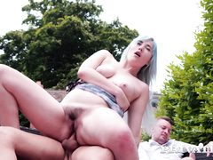 Misha Mayfair debuts in Private with DP in the garden
