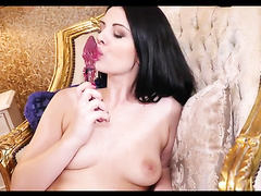 Young and supple, Alice Nice is a Czech babe with a kickass bod that you'll want to lick all up. Her perky boobs and bubble butt are yours to touch, and if you ask nicely she'll peel off her clothes and whip out a dildo so she can show you just how she li