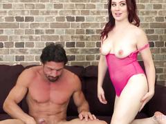 Jessica Ryan Is Naughty In Pink Mesh While She Fucks