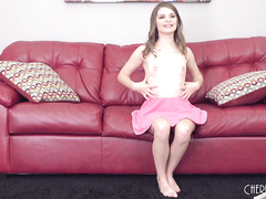 Shaved Teen Alice March Gets Pounded LIVE