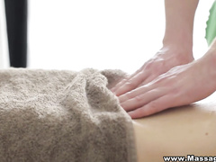 Anal on massage table