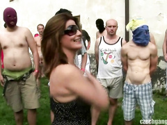 CZECH GANG BANG PARTY AT MILL