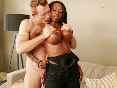 White dick for busty ebony's desires