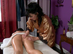 Rayveness and Kimmy Kay on the massage table