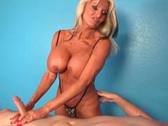 Massage turns nasty along busty mature