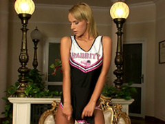 Straight cheerleader Dorothy Green pokes her puss