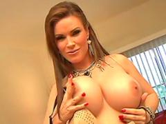 Brunette fuck with hardcore dildo