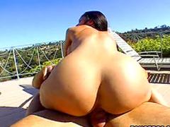 Ladies show off round asses