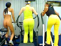 Delicious butts in the gym
