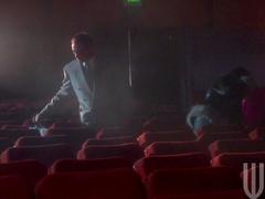 Hardcore gangbang in the cinema with Alektra Blue