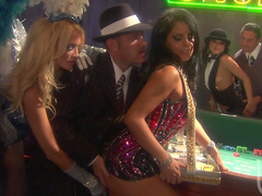Sensual orgy with perverted beauties in the club