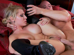 Johnny Sins fucks slender glamorous blonde Madison Ivy