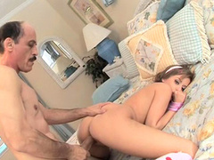 Missy Lou and hard dick of her lovely old fart