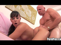 Alexa Jordan being impaled in her pussy by an old dick