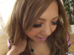 Innocent blowjob by sensual Japanese babe Tsukasa