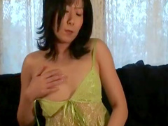 Slender Asian chick is masturbating her accurate pussy