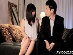 Sensual brunette Nozomi Hazuki makes a nice blowjob