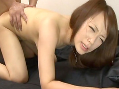 Sensual babe Nazuna Otoi is making a sloppy blowjob