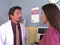 Lizz Tayler is sucking that tasty long dick of her doctor