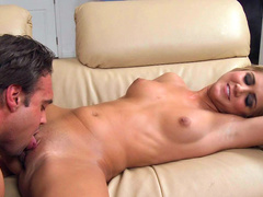 Blonde Ashley Abbott rides on a cock of her husband's friend