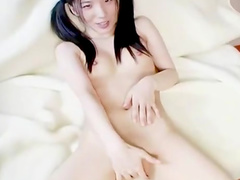 Pigtailed innocent Japanese fucks in her pussy and mouth