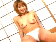 Asian Kaori Amai bangs herself and fucks