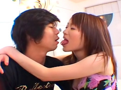 Sweet Asian babe Akari Hoshino fucks after first date