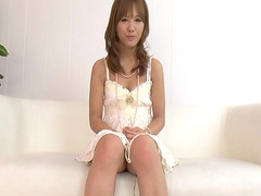 Japanese babe Tamura Miu plays with her dildo